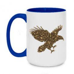 Кружка двухцветная 420ml Eagle feather
