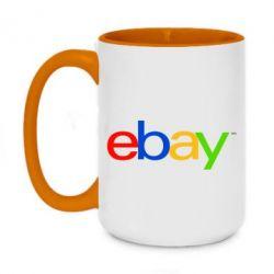 Кружка двоколірна 420ml Ebay