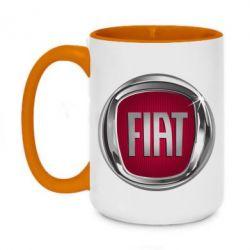 Кружка двоколірна 420ml Emblem Fiat