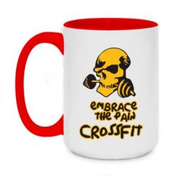 Кружка двухцветная 420ml Embrace the pain. Crossfit - FatLine