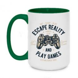 Кружка двоколірна 420ml Escape Reality