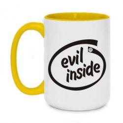 Кружка двоколірна 420ml Evil Inside