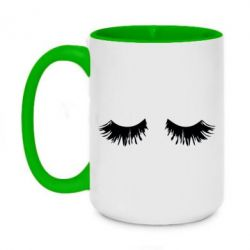 Кружка двоколірна 420ml Eyelashes