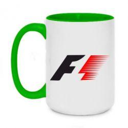 Кружка двухцветная 420ml F1