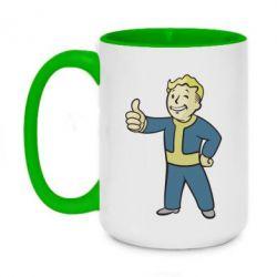 Кружка двухцветная 420ml Fallout Boy