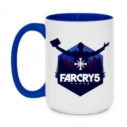 Кружка двоколірна 420ml Far cry 5 silhouette Joseph Seed