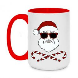 Кружка двоколірна 420ml Fashionable Santa