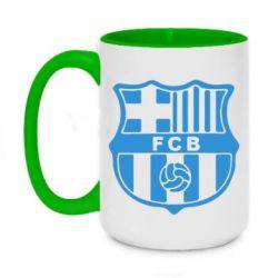 Кружка двухцветная 420ml FC Barcelona