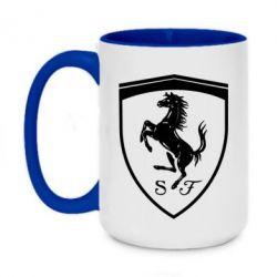 Кружка двоколірна 420ml Ferrari horse