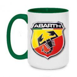 Кружка двухцветная 420ml FIAT Abarth