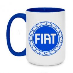 Кружка двоколірна 420ml Fiat logo
