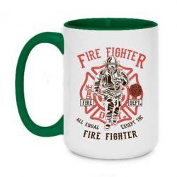Кружка двоколірна 420ml Fire Fighter