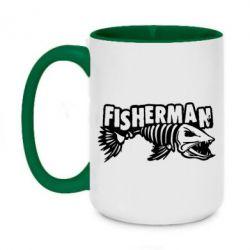 Кружка двоколірна 420ml Fisherman