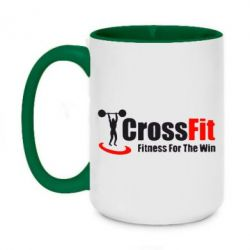Кружка двухцветная 420ml Fitness For The Win Crossfit - FatLine