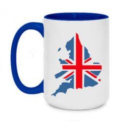 Кружка двухцветная 420ml Флаг Англии