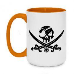 Кружка двоколірна 420ml Flag pirate