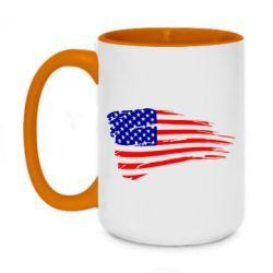 Кружка двоколірна 420ml Прапор США