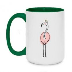 Кружка двоколірна 420ml Flamingo in the crown