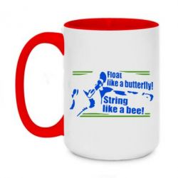 Кружка двоколірна 420ml Float like a butterfly, sting like a bee