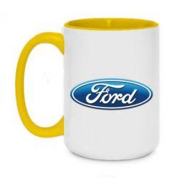 Кружка двухцветная 420ml Ford 3D Logo