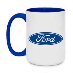 Кружка двухцветная 420ml Ford Logo