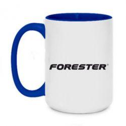 Кружка двоколірна 420ml FORESTER