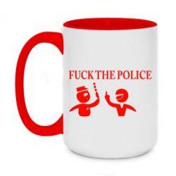 Кружка двухцветная 420ml Fuck the Police