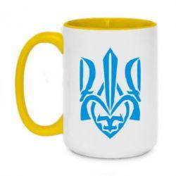 Кружка двухцветная 420ml Гарний герб України - FatLine