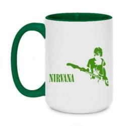 Кружка двоколірна 420ml Гітарист Nirvana