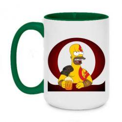 Кружка двоколірна 420ml God of war: Simpson