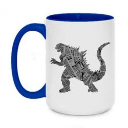 Кружка двоколірна 420ml Godzilla from the newspapers