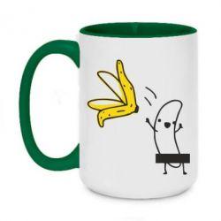 Кружка двухцветная 420ml Голый банан