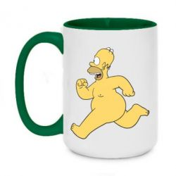 Кружка двухцветная 420ml Голый Гомер Симпсон