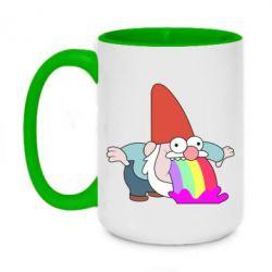 Кружка двоколірна 420ml Gravity Falls, dwarf and rainbow