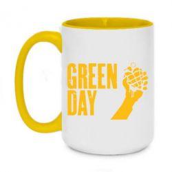 Кружка двухцветная 420ml Green Day American Idiot