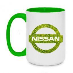 Кружка двоколірна 420ml Green Line Nissan