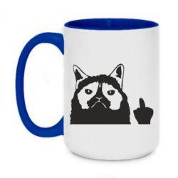 Кружка двоколірна 420ml Grumpy cat F**k Off