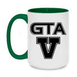 Кружка двухцветная 420ml GTA 5