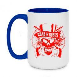 Кружка двоколірна 420ml Guns n' Roses Logo