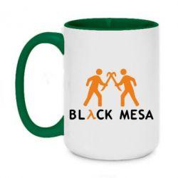 Кружка двухцветная 420ml Half Life Black Mesa - FatLine