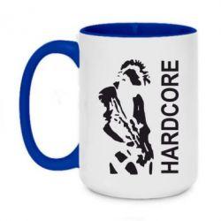 Кружка двоколірна 420ml Harcore