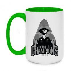 Кружка двухцветная 420ml Heart of Champions