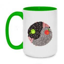 Кружка двоколірна 420ml Hedgehogs yin-yang
