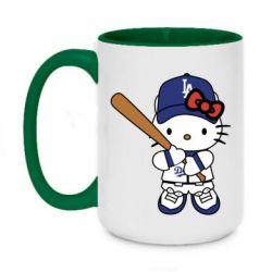 Кружка двоколірна 420ml Hello Kitty baseball