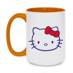 Кружка двухцветная 420ml Hello Kitty logo