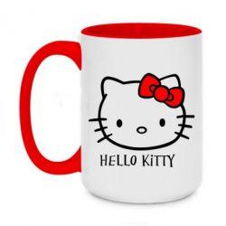 Кружка двоколірна 420ml Hello Kitty