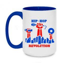 Кружка двухцветная 420ml Hip-hop revolution