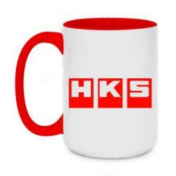 Кружка двухцветная 420ml HKS - FatLine
