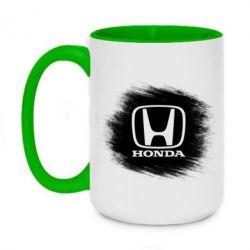 Кружка двухцветная 420ml Хонда арт, Honda art - FatLine