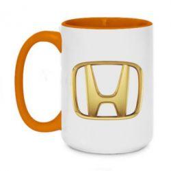 Кружка двоколірна 420ml Honda Gold Logo